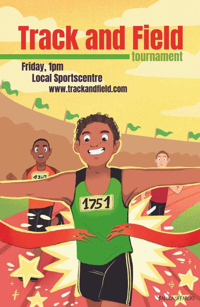 Track and Field Poster- Boys