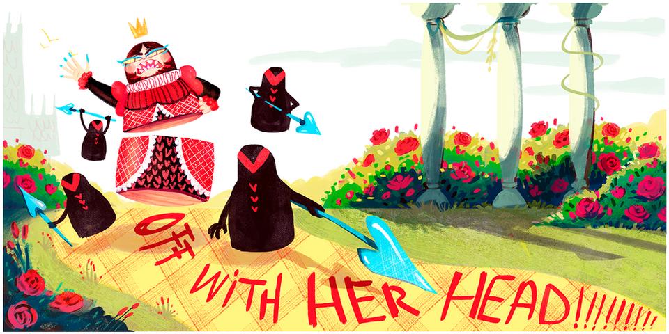 Alice in Wonderland Reimagined- Spread