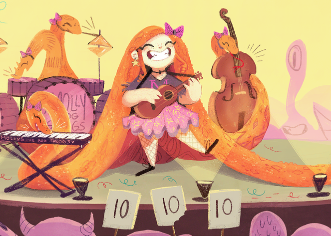 Molly and the band