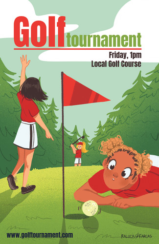 Golf Poster- Girls