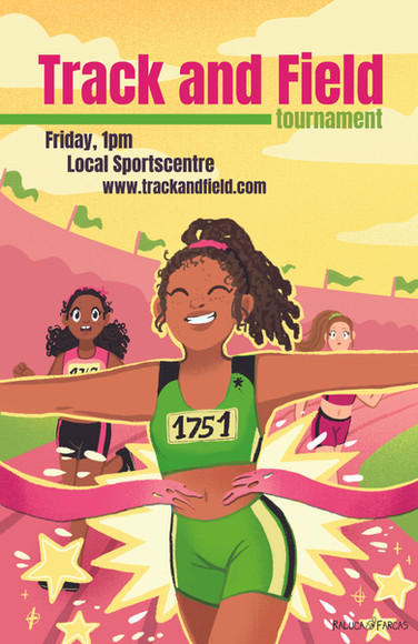 Track and Field Poster- Girls