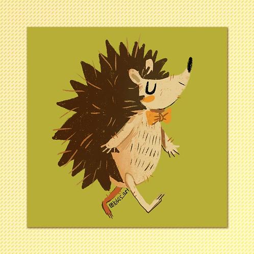 Hedgehog Square Print