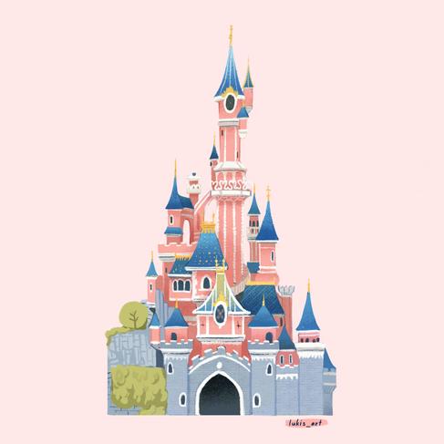 Paris Disney Castle