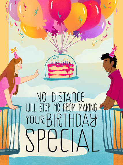 Balloon Birthday Card no.1