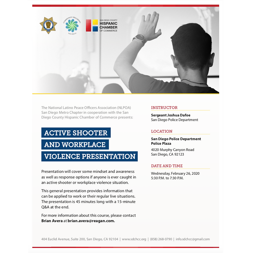 Active Shooter and Workplace Violence Presentation