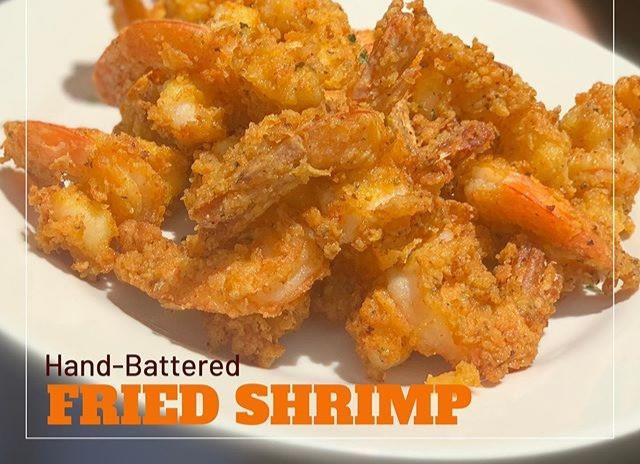 Fried Shrimp_ Perfectly seasoned_ Hand battered_ Don't mind if I do!! #weshuckin #BestFood