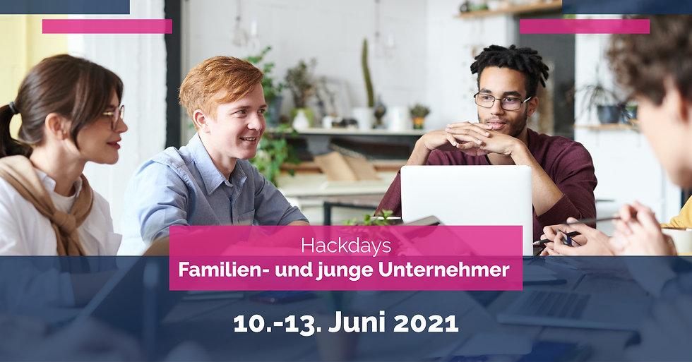 Hackdays Familienunternehmer 2021-Banner