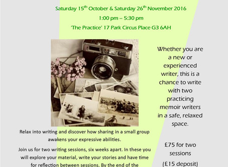 Memories into Memoir - Writing Workshop
