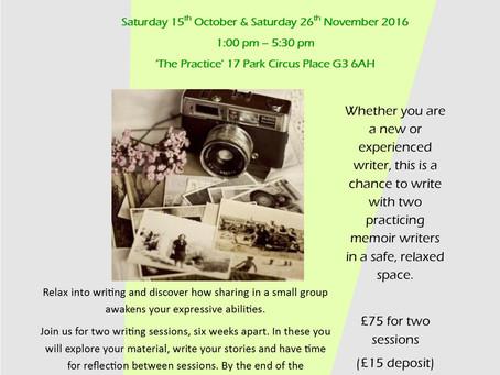Memories into Memoir - Writing Workshop