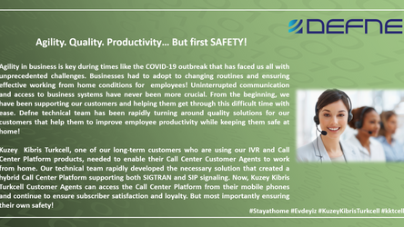 Agility. Quality. Productivity… But first SAFETY!