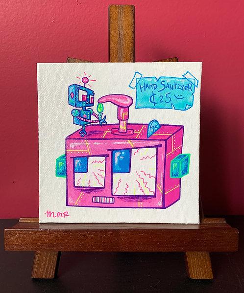 """""""Sanitizer Bot"""" Original Painting"""