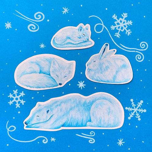 Winter Animal Stickers