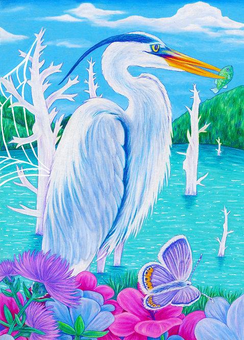 """Heron"" Art Print"