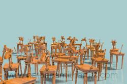 Wooden,Sheep,tables Nathan Smith