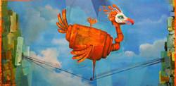Painting clockwork bird