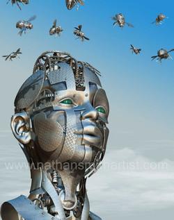 Robot,Head,bee Nathan Smith