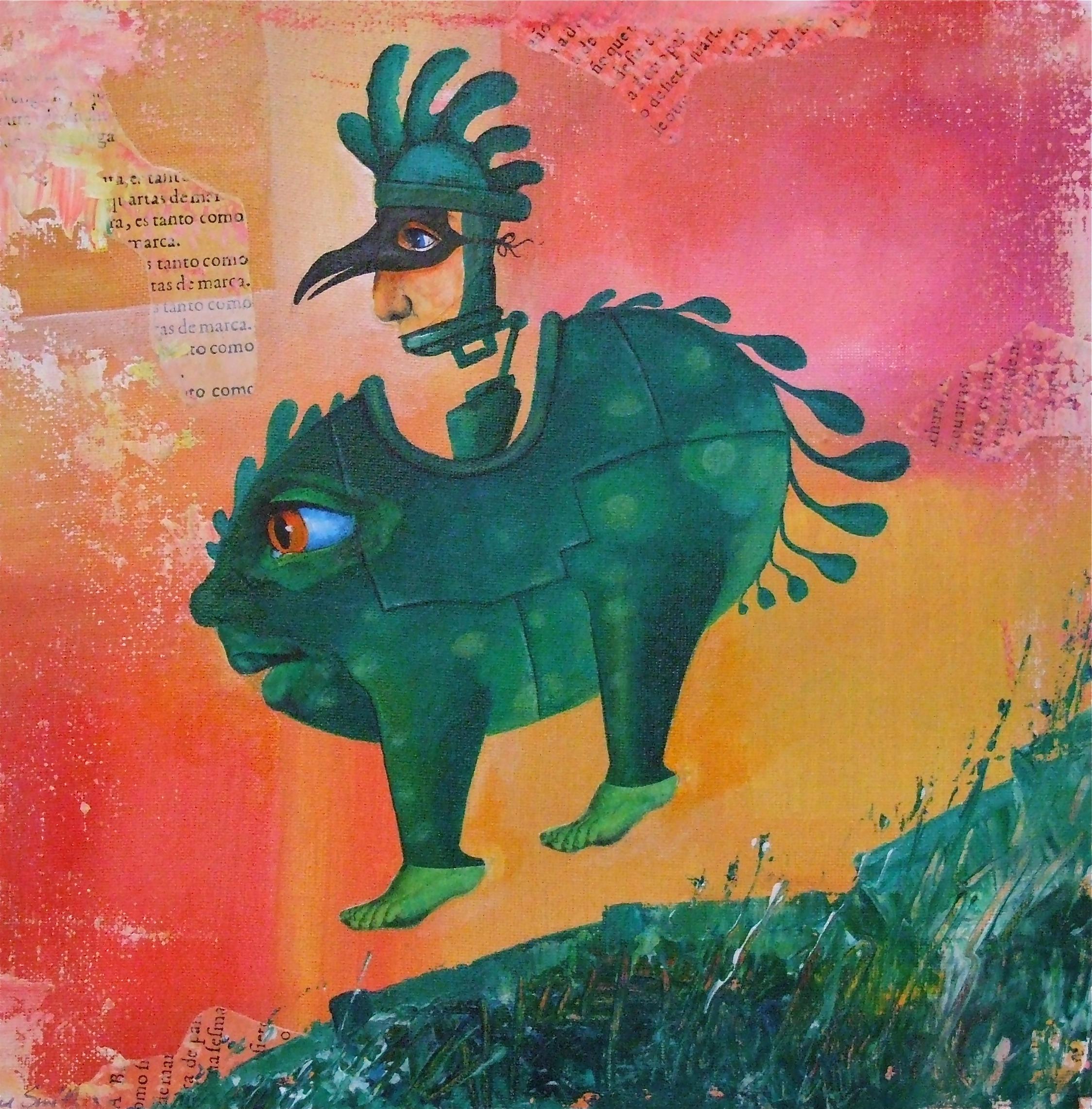 painting strange creature