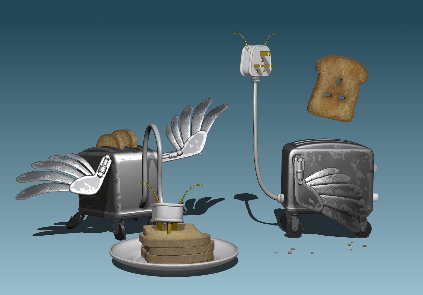 Toaster,Silver,Nathan Smith