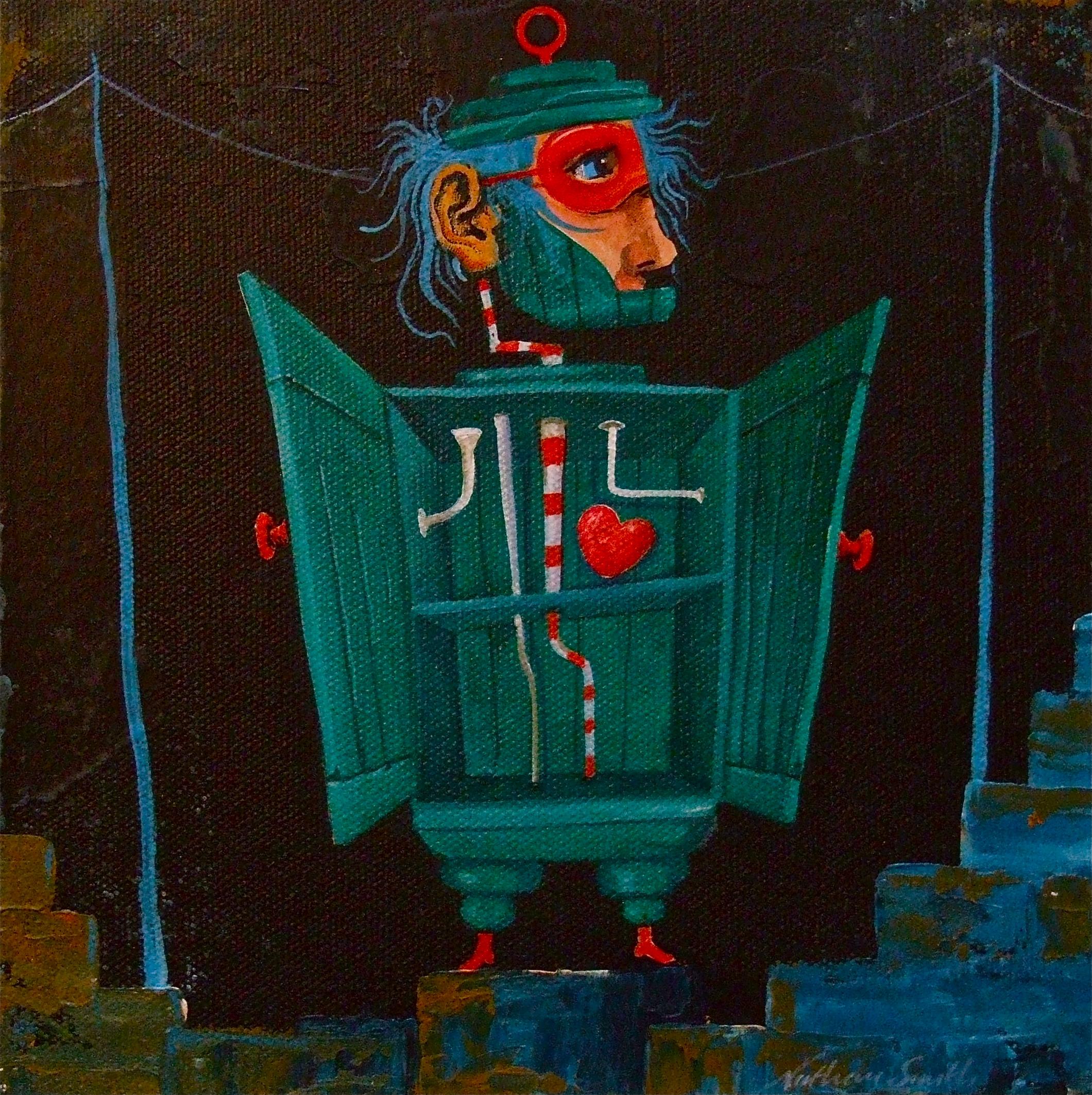 painting strange figure