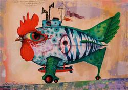 painting chicken submarine