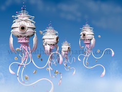 Jellyfish blue sky Nathan Smith