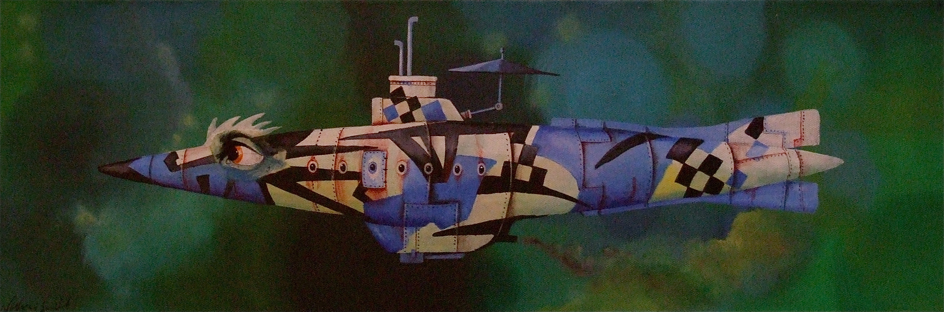 painting of submarine