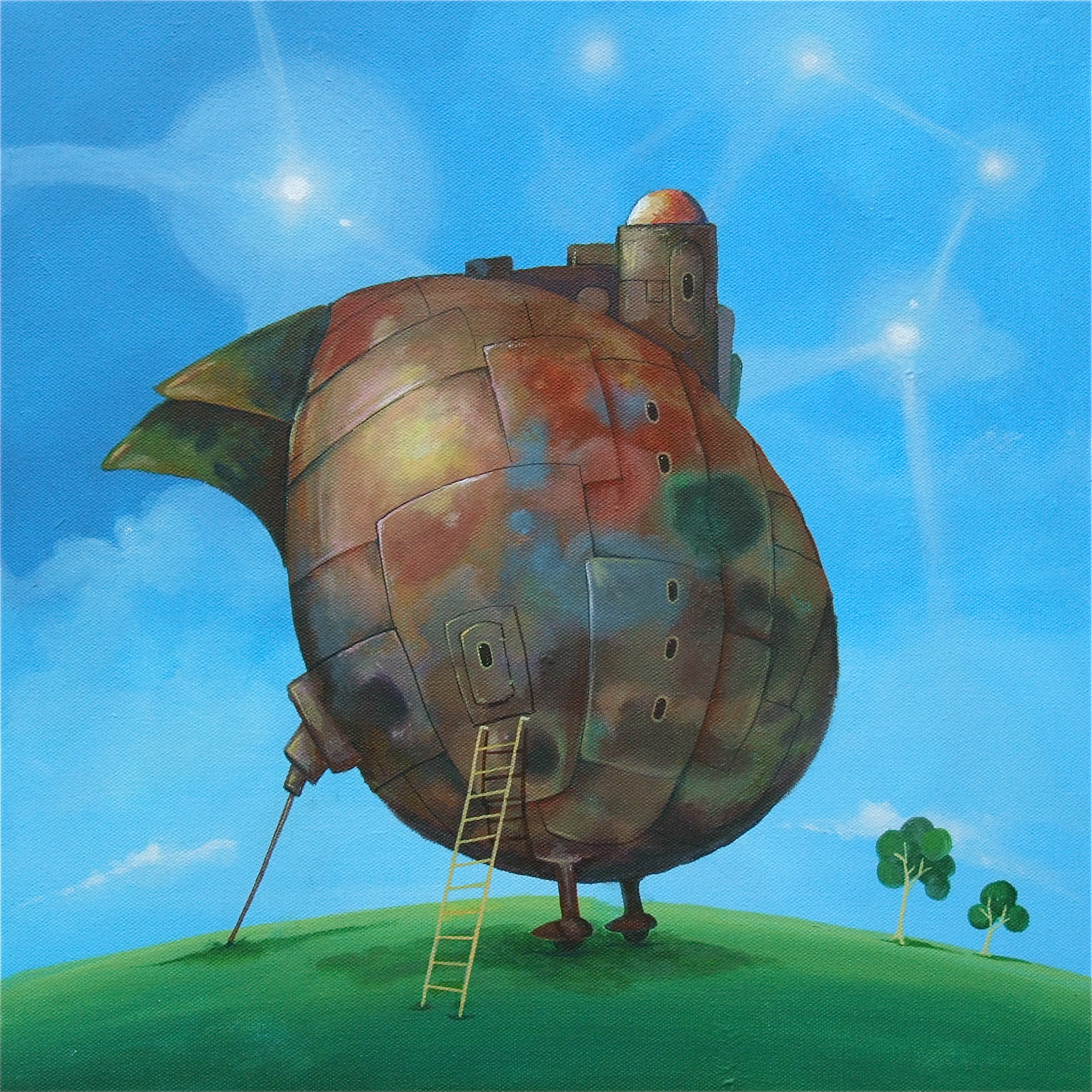painting flying egg