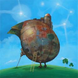painting flying egg