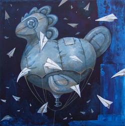 painting ballon bird