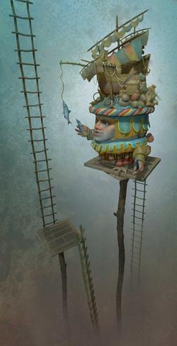 Ladder Fishing Ship