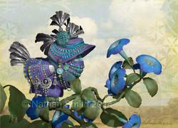 Blue Silver Bird
