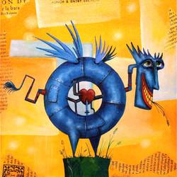 painting blue dragon