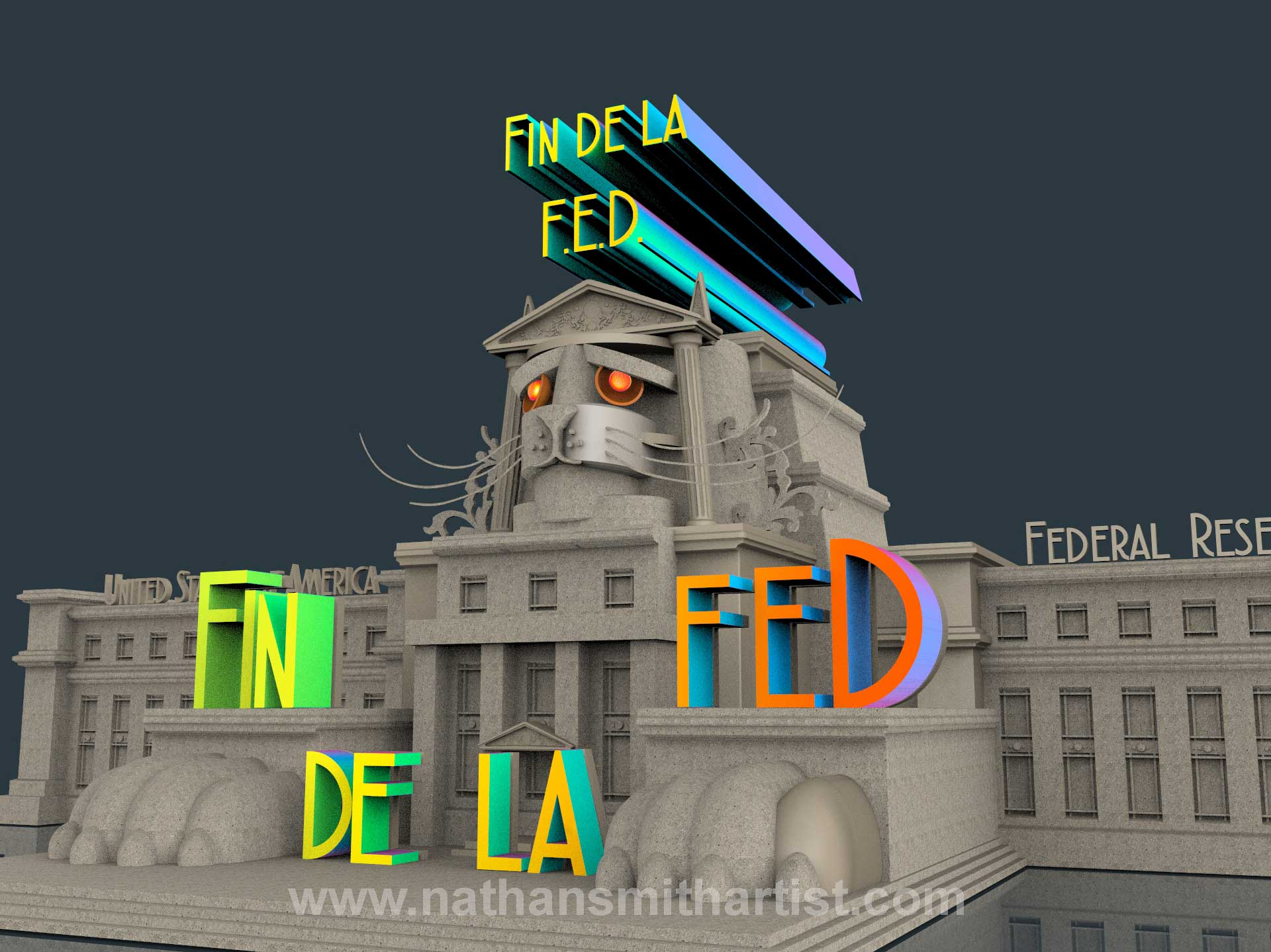 lion,buildings.the FED