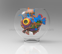 Gold fish in glass bowl Nathan Smith