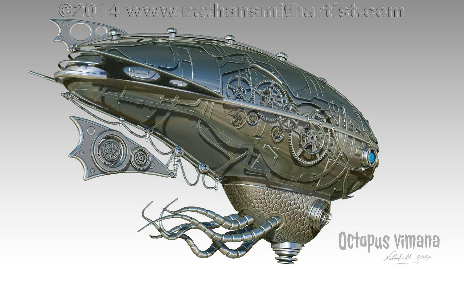 Octopus,Vimana Airship,Nathan Smith