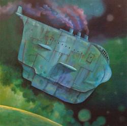 painting spaceship