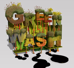 Greenwash, environment,Lettering