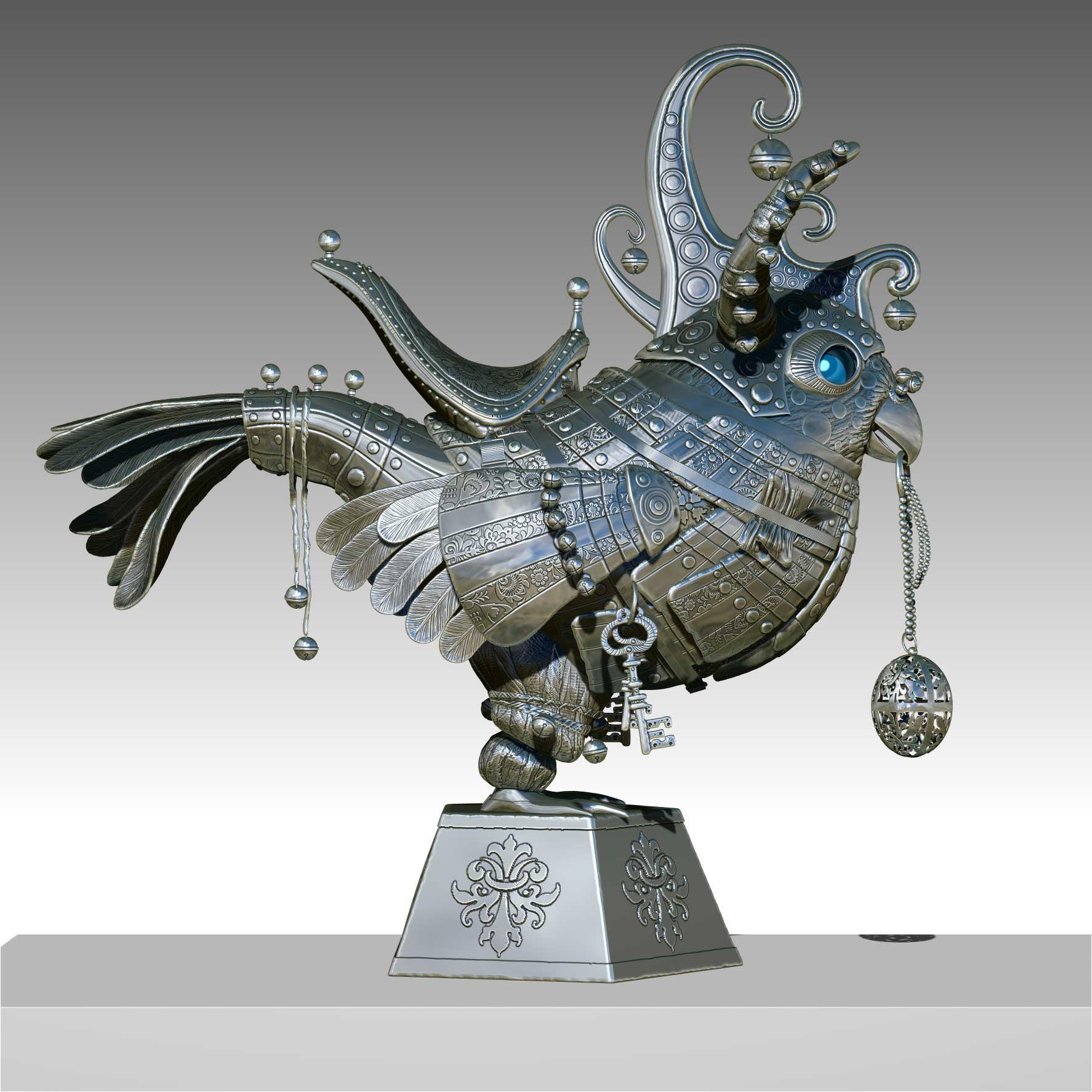 Parrot silver bird