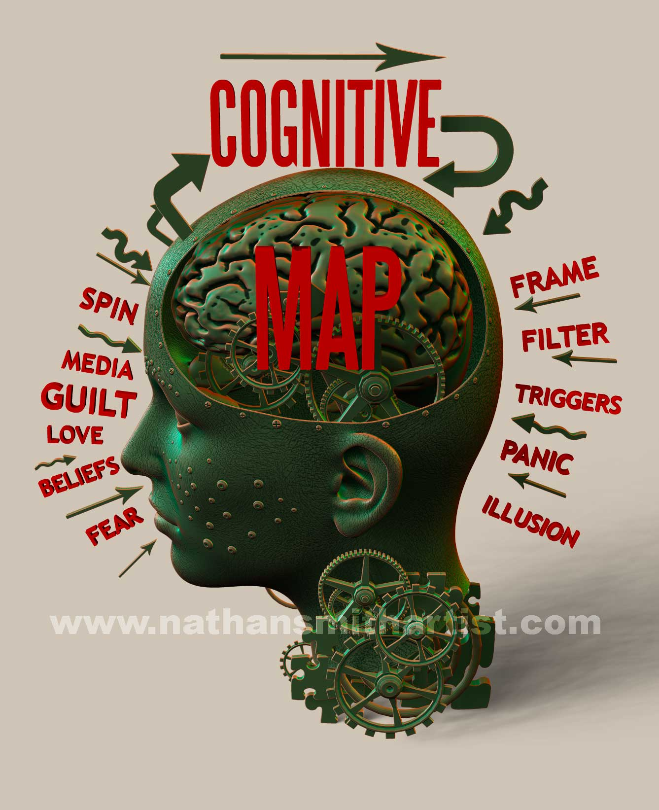 cogitive,map,robot,head