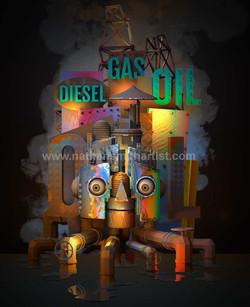 Diesel,Gas,oil