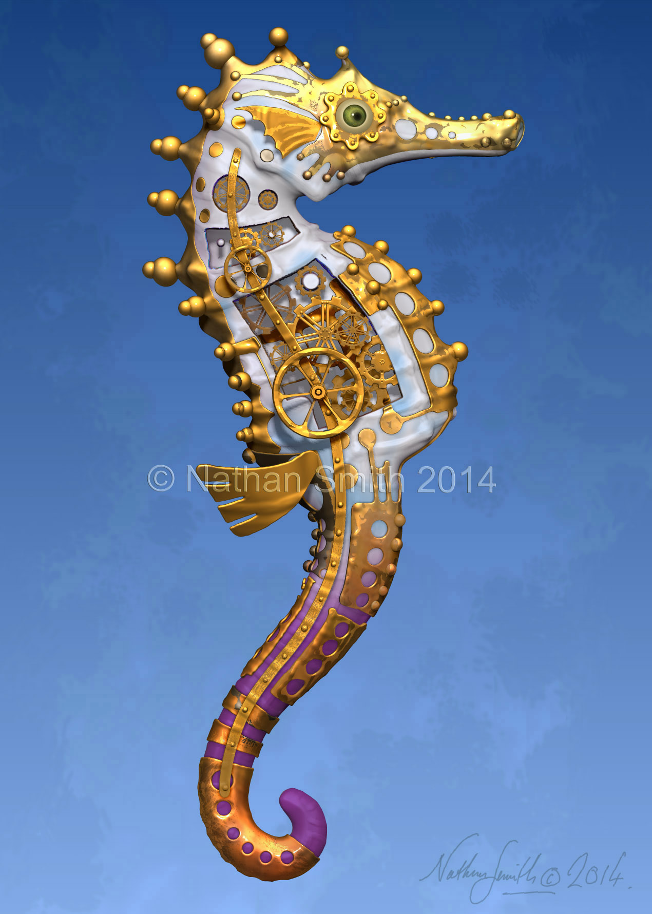 seahorse blue Nathan Smith