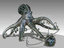 Decorative ,octopus ,Silver