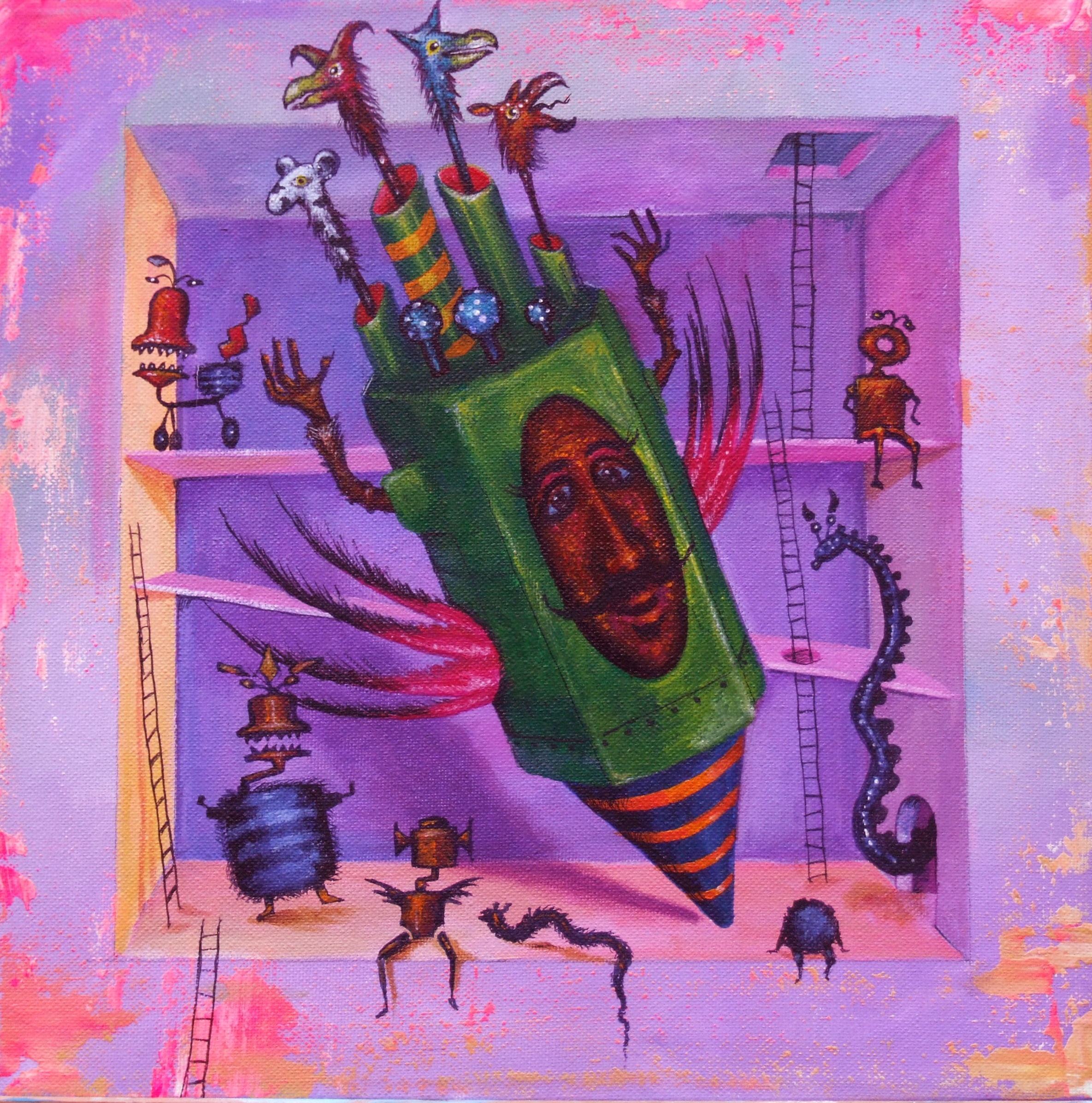 painting strange creatures