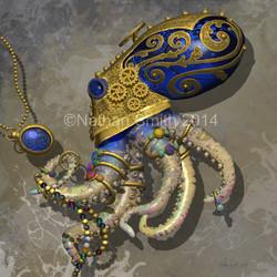 Octopus Decorative blue