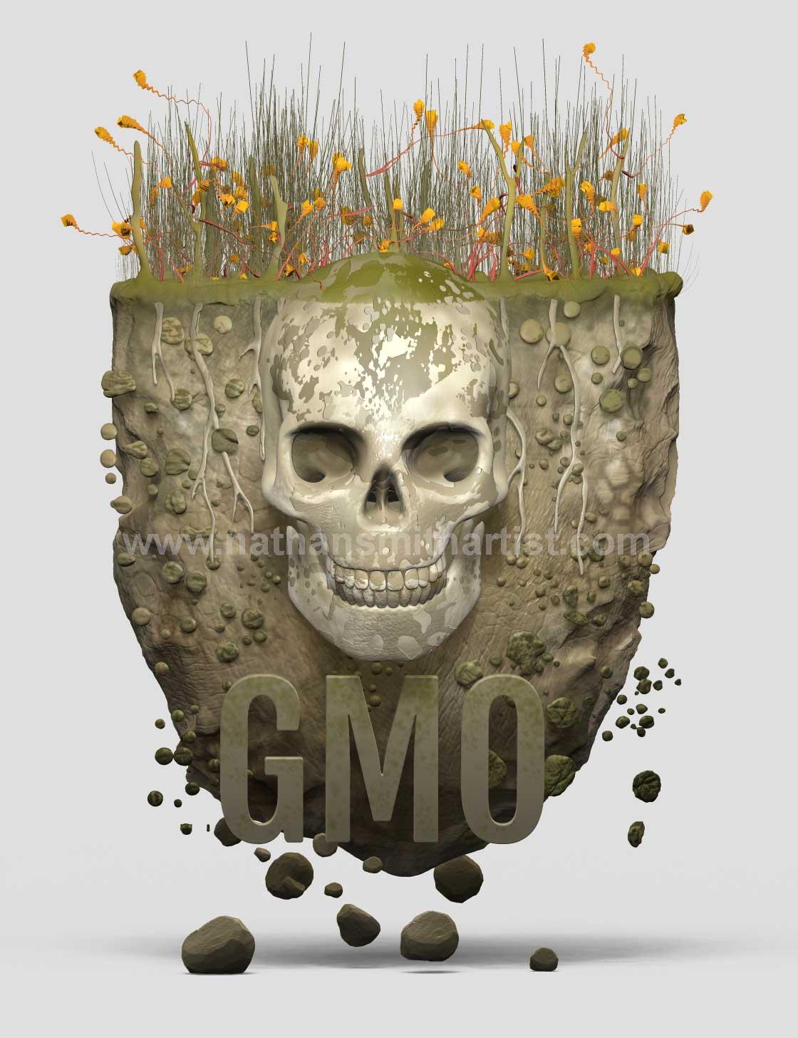 GMO,crops,skulls