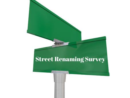 Street Renaming Survey