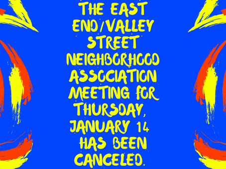 Canceled - January EEVS Neighborhood Association Meeting