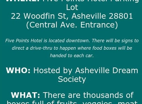 Free Food Drive Thru in Asheville - This Monday!