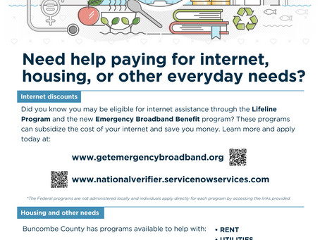 Need Help Paying For Internet, Housing, or Other Everyday Needs? New Resources May Be Able to Help.