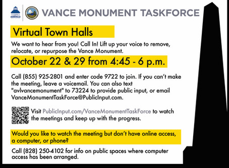 The Vance Monument Task Force Virtual Meetings